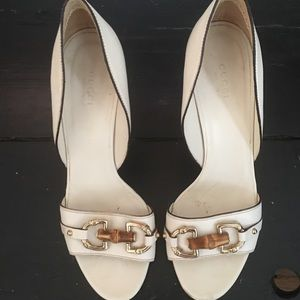 Gorgeous ivory Gucci heels!